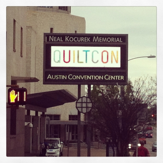 Quiltcon sign